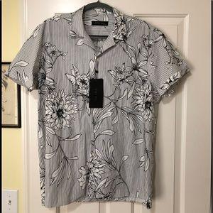 Zara man new designer short sleeve shirt XL